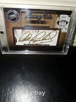 Dale Earnhardt Sr Autographié 2007 Press Pass Signed Legends Racing Cut Card 2/2