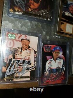 Dale Earnhardt Sr Hand A Signé Des Cartes Autographiées. Cartes Certifiées Plus. 21 Total