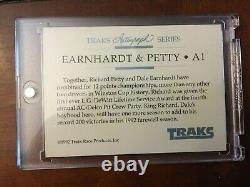 Dale Earnhardt Sr & Richard Petty 1992 Traks Autographe