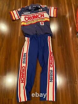 Dale Jarrett Crunch Race Worn Costume D'équipage D'occasion Nascar Autographié