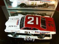 David Pearson 21 Purolator Autographié 1971 Mercury Cyclone University Of Racing
