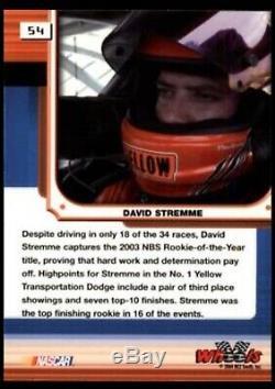 David Stremme Rookie Race Utilisé Worn Casque Photo Assorti Peinture Personnalisée Nascar