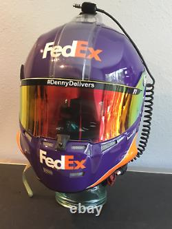 Denny Hamlin, 2017 Race Usagée, Joe Gibbs, Fed Ex, Carbon Fibre Stilo Casque