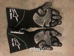 Denny Hamlin Jordan Alpinestars Fedex #11 Jgr Nascar Race Gants De Pilotes D'occasion