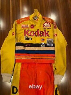 Ernie Irvan Kodak Race Worn Used Firesuit Drivers Costume Nascar 1991 Autographié