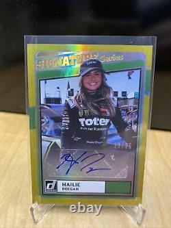 Hailie Deegan 2021 Donruss Racing Signature Series Holo Gold Auto 23/25 Nascar