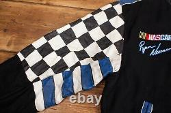 Homme Vintage Ryan Newman Noir Réversible Alltel Racing Nascar Veste L R21575