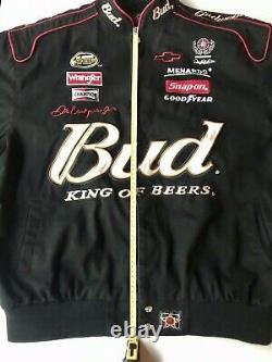 J. H. Design Dale Earnhardt Jr #8 Size 2xl Black Budweiser Jacket 2007 Nascar