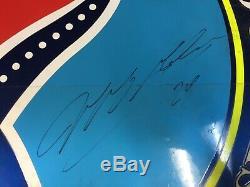 Jeff Gordon Autographié Real Nascar Race Fiche Utilisé Supports Métal Amérique Du Dod