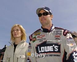 Jimmie Johnson Race Worn Pilotes Utilisé Costume De Feu Nascar Lowes 7x Champ