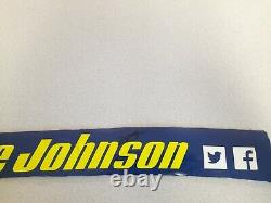 Jimmie Johnson Signé 2017 Lowes Nom Rail Nascar Race Used Feuilletmetal Rare