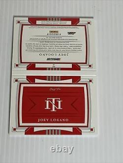 Joey Logano 2020 National Treasures Racing 1/1 Auto Ppg Logo Livret Patch Rare