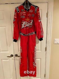 Kevin Harvick Race Nascar Worn Pilotes Utilisé Costume De Feu Budweiser Rcr Racing