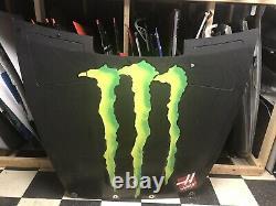 Kurt Busch Monster Energy Shr Ford Nascar Race Used Sheetmetal Hood
