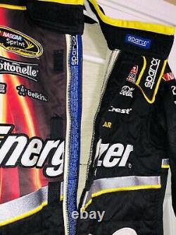 Kyle Larson Race Driver Suit Used Cible Energizer Nascar Chevy Fire Impact