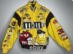 M&ms Nascar Veste Taille Large (l) Robert Yates 38 Vintage Racing Logo