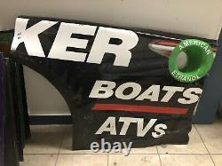 Martin Truex Jr Jgr Tracker Boats Nascar Race Usagé Panneau De Quart Arrière En Tôle