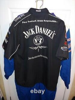 Nascar Clint Bowyer Richard Childress Auto Jack Daniels Race Utilisé Pit Crew Shirt