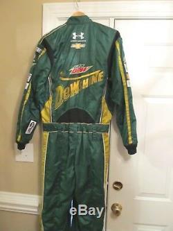 Nascar Dale Earnhardt Jr Utilisé Dewshine Crew Firesuit Autoed Suit Feu Sfi