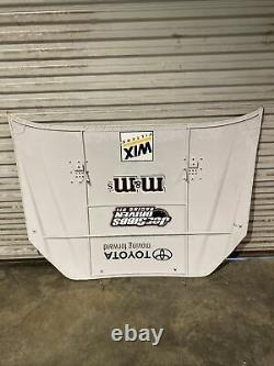 Nascar Race Used Sheetmetal Kyle Busch M&m Hood Tôle