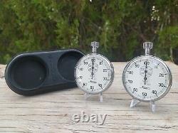 Nascar Stopwatch Set Buddy Baker #28 Ranier Racing Stop Watch Racing Minerva