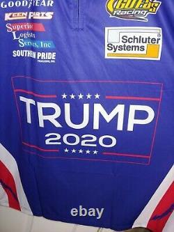 Nascar Trump 2020 Course Utilisée Nascar Pit Crew Shirt Team Publié Aller Vite 2xl