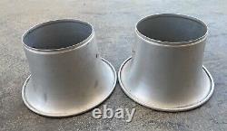 Qty 2 Stacks Vintage En Aluminium Velocity 5-1/8 Dual Quad Tunnel Ram Gasser Hot Rod