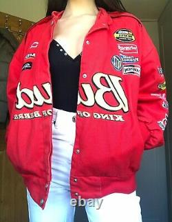 Rare! 90s Chase Authentics Patch Embriodered Nascar Motor Sports Racing Veste