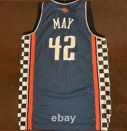 Rare Vintage Adidas Nba Charlotte Bobcats Sean May Nascar Racing Night Jersey