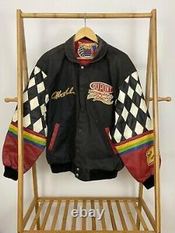 Rare Vtg Jeff Hamilton Nascar Jeff Gordon Dupont Leather Sleeve Racing Jacket L