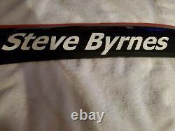 Steve Byrnes Nascar Race 2015 Nom De Tôle Usé Rail