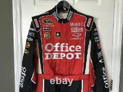 Tony Stewart Race Utilisé Worn Pilotes Suit Feu Nascar