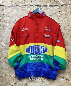 Veste De Course Multicolore Vintage Du Pont Nascar XL