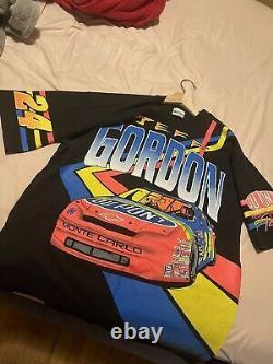 Vintage 1993 Jeff Gordon Du Pont Racing Tout Sur Imprimer T-shirt Nascar