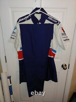 Vintage 1993 Nascar Mark Martin Valvoline Course Utilisé Pit Crew Shirt Uniforme Pantalon