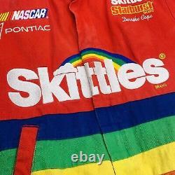 Vintage 1997 Nascar Skittles Cope Chase Veste De Course Authentique Manteau Petit