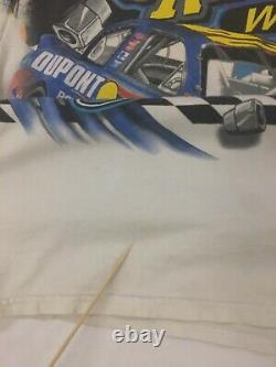 Vintage 2002 Jeff Gordon Dupont Racing Chase T-shirt Grand Nascar Tout Sur Imprimer