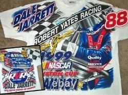 Vintage 90's Dale Jarrett 1999 Winston Cup Champion Nascar Racing Shirt XL
