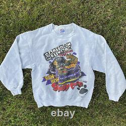 Vintage Cartoon Network Wacky Racing Crewneck Scooby Doo 90s Nascar Sweat Medium