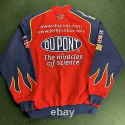 Vintage Chase Authentics Jeff Gordon 24 Nascar Racing Veste L Flames Dupont Jh