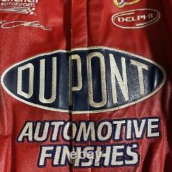 Vintage Chase Authentics Jeff Gordon Dupont Veste En Cuir Jeff Hamilton Large