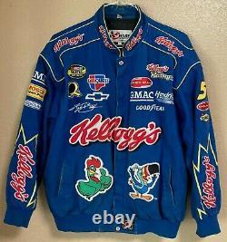 Vintage Chase Nascar Nextel Cup Series Kyle Busch #5 Kelloggs Racing Jacket Lrg