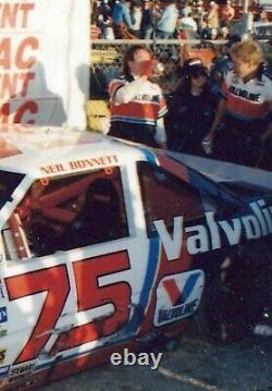 Vintage Course Nascar Chemise Utilisé L'équipage Pit Neil Bonnett 1988 Valvoline # 75 Rahmoc