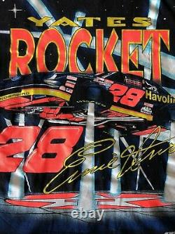 Vintage Ernie Irvan Nascar Robert Yates Racing Rocket Taille Simple Maille Grand