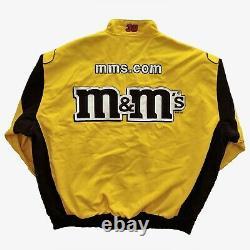 Vintage Jeff Hamilton M&m Racing Nascar Veste. Retro Madison Beer Jh Design 90s
