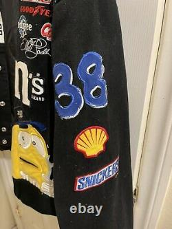 Vintage Jh Designs M&m Nascar Racing Jacket (fits Xl) Black Elliot Saddler 38