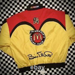 Vintage Mcdonalds Racing Team Jacket Nascar Og Classic Elliot Taille Adulte Grande