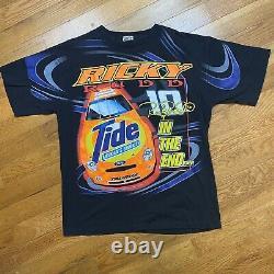 Vintage Nascar Ricky Rudd Tide Racing T Shirt XL All Over Imprimer Aop