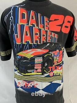 Vintage Nascar T Shirt All Over Imprimer Dale Jarrett Racing Tee USA Grand 90s