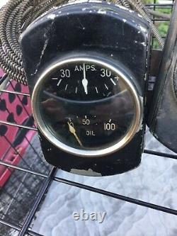 Vintage Stewart Warner Duplex Gauge Set 32 Ford Scta Trog Bateau En Bois 33 34